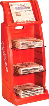 StreetSmart MR-4 Multi Rack for broadsheet and tabloid papers by Go Plastics