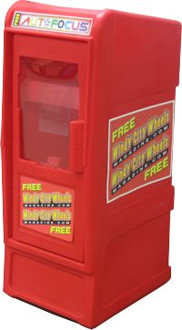 StreetSmart SS#5LD (Long Door) Tabloid Publiction Rack by Go Plastics