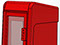StreetSmart SS#5 Tabloid Rack in #17 Red by Go Plastics