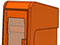 StreetSmart SS#5 Long Door Tabloid Rack in 10 Orange by Go Plastics