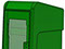 StreetSmart SS#5 Long Door Tabloid Rack in 11 Green by Go Plastics