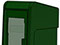 StreetSmart SS#5 Long Door Tabloid Rack in 12 Green by Go Plastics