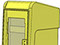 StreetSmart SS#5 Long Door Tabloid Rack in 19 Yellow by Go Plastics