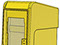 StreetSmart SS#5 Long Door Tabloid Rack in 3 Yellow by Go Plastics