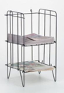 StreetSmart Wire Rack for Tabloid Papers by Go Plastics