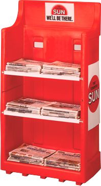 StreetSmart SRR (Sunday Rollout Rack) Multi Rack for broadsheet and tabloid papers by Go Plastics